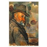 Cezanne Emotion Artistic Quote Large Poster