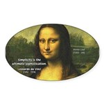 Mona Lisa: Da Vinci Quote Oval Sticker