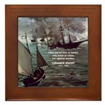 Manet Painting Color Quote Framed Tile