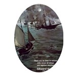 Manet Painting Color Quote Oval Ornament