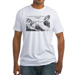 Michelangelo Creation of Adam Fitted T-Shirt