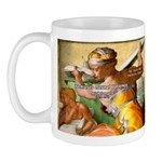 Words on Genius Michelangelo Mug