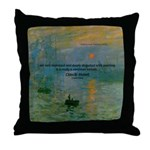 Claude Monet Torture Art Throw Pillow