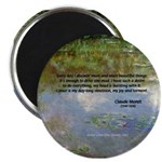 Monet Painting: Beauty Quote Magnet