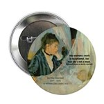 "Female Artist Morisot Quote 2.25"" Button (100 pack"
