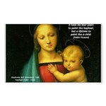 Raphael Madonna Painting Rectangle Sticker