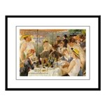 Renoir Quote and Landscape Large Framed Print