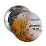 "Alfred Sisley Nature Quote 2.25"" Button (100 pack)"