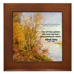 Alfred Sisley Nature Quote Framed Tile