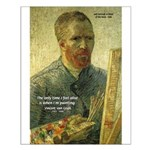 Vincent Van Gogh Quote Small Poster